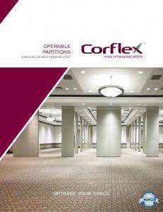 OPERABLE PARTITIONS ENDLESS DESIGN POSSIBILITIES OPTIMIZE YOUR SPACE