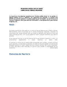 OPERACIONES BASICAS CON LOS ICONOS ( ABRIR, CREAR, ELIMINAR, ORGANIZAR)