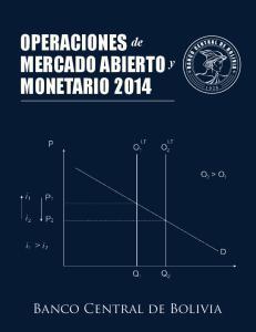 OPERACIONES de MERCADO ABIERTO y MONETARIO 2014