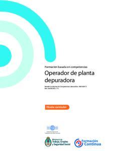 Operador de planta depuradora