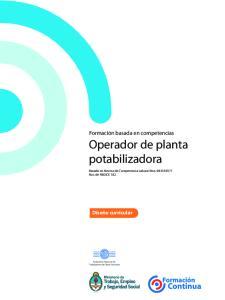 Operador de planta potabilizadora