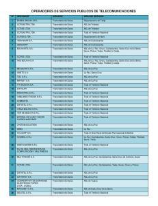 OPERADORES DE SERVICIOS PUBLICOS DE TELECOMUNICACIONES
