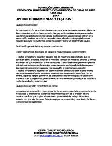 OPERAR HERRAMIENTAS Y EQUIPOS