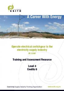 Operate electrical switchgear in the electricity supply industry
