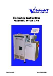 Operating instruction Magnetic Sorter 3.01