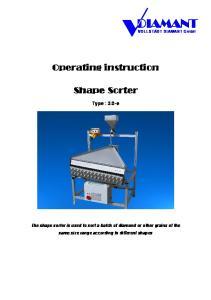 Operating instruction. Shape Sorter