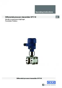 Operating Instructions. Differential pressure transmitter DPT-10. Metallic measurement diaphragm Foundation Fieldbus