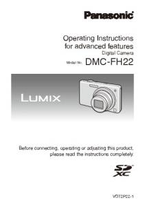 Operating Instructions for advanced features Digital Camera