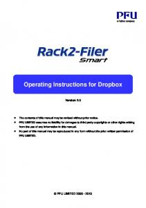 Operating Instructions for Dropbox Version 2.0