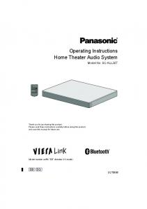 Operating Instructions Home Theater Audio System