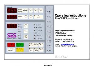 Operating Instructions Single