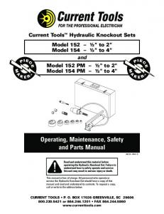 Operating, Maintenance, Safety