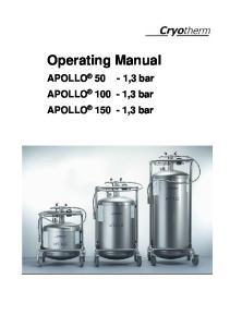 Operating Manual. APOLLO 50-1,3 bar APOLLO 100-1,3 bar APOLLO 150-1,3 bar