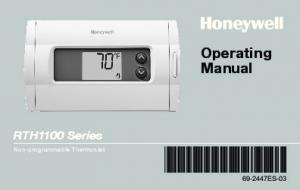 Operating Manual. RTH1100 Series ES-03. Non-programmable Thermostat