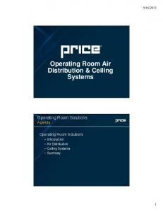 Operating Room Air Distribution & Ceiling Systems