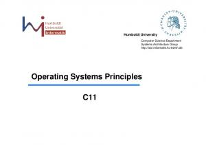 Operating Systems Principles C11