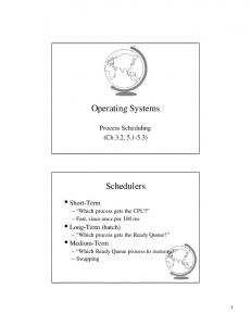 Operating Systems. Schedulers