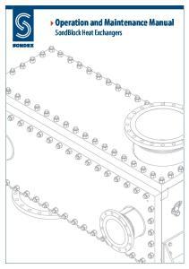 Operation and Maintenance Manual SondBlock Heat Exchangers