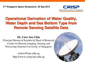 Operational Derivation of Water Quality, Water Depth and Sea Bottom Type from Remote Sensing Satellite Data