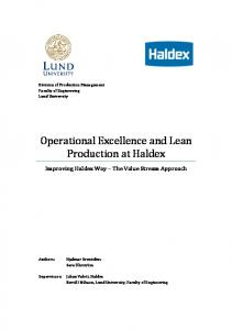 Operational Excellence and Lean Production at Haldex