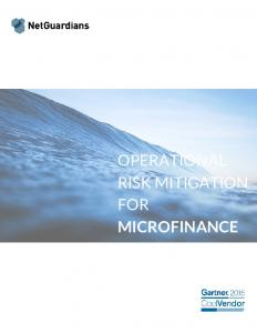 OPERATIONAL RISK MITIGATION FOR MICROFINANCE