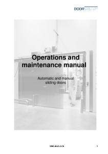 Operations and maintenance manual
