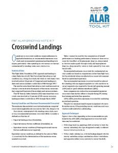 Operations in crosswind conditions require adherence to