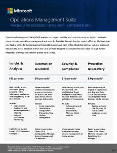 Operations Management Suite