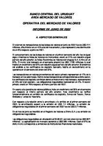 OPERATIVA DEL MERCADO DE VALORES