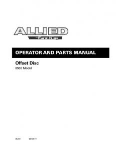 Operator and Parts Manual. Offset Disc Model