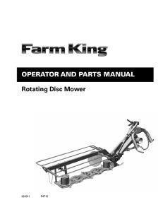 Operator and Parts Manual. Rotating Disc Mower P4715