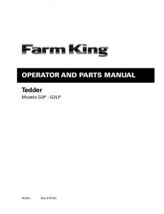 Operator and Parts Manual