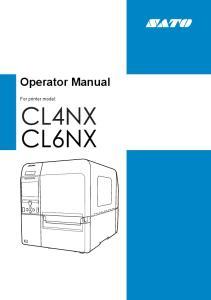 Operator Manual. For printer model: