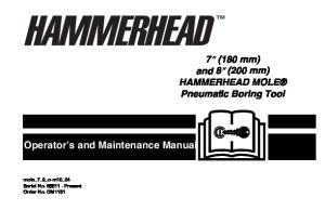 Operator s and Maintenance Manual