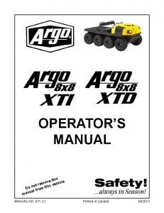 OPERATOR S MANUAL. Do not remove this manual from this vehicle