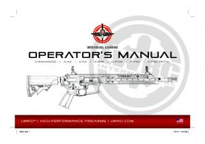 operator s manual IC-ENHANCED IC-A2 IC-A5 IC-SPR IC-PDW IC-PSD IC-PSD PISTOL