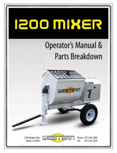 Operator s Manual & Parts Breakdown