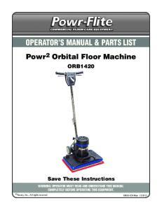 OPERATOR S MANUAL & PARTS LIST
