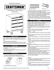 OPERATOR S MANUAL. safety. service parts. capacities. Ball bearing slides