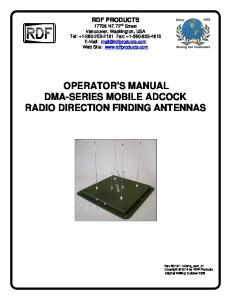 OPERATOR'S MANUAL DMA-SERIES MOBILE ADCOCK RADIO DIRECTION FINDING ANTENNAS
