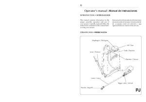 Operator's manual Manual de instrucciones