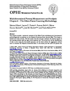OPHI WORKING PAPER NO. 86