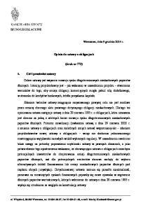 Opinia do ustawy o obligacjach. (druk nr 773)