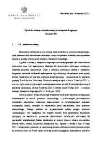 Opinia do ustawy o zmianie ustawy o transporcie drogowym (druk nr 87)
