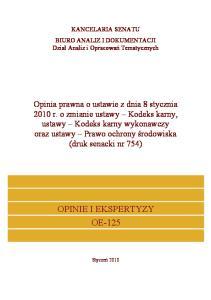 OPINIE I EKSPERTYZY OE-125