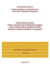 OPINIE I EKSPERTYZY OE-84