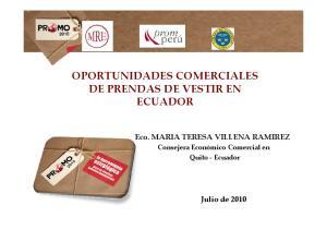 OPORTUNIDADES COMERCIALES ECUADOR