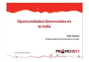 Oportunidades Comerciales en la India