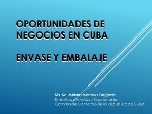 OPORTUNIDADES DE NEGOCIOS EN CUBA