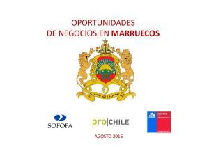OPORTUNIDADES DE NEGOCIOS EN MARRUECOS